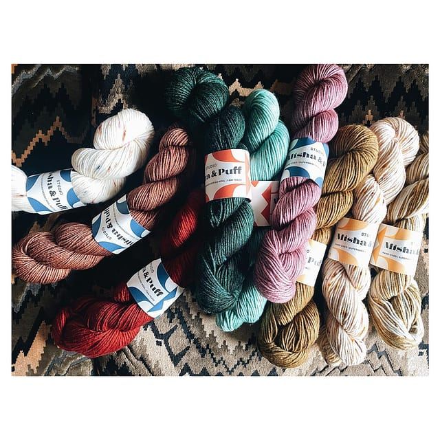 Our very first collection of yarn launches tomorrow at 9am EDT! See more @studiomishaandpuff